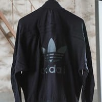 Adidas Womens Black Bat sleeves Sport Jacket