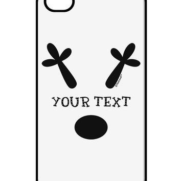 Personalized Matching Reindeer Family Design - Your Text iPhone 4 / 4S Case  by TooLoud
