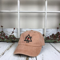 PEACE NOT WAR 3D Triangle Rose Pigmented Dye Washed Baseball Cap Curved Bill Dad Hats Baseball Hat Embroidered Terra Cotta
