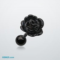 Colorline Steel Rose Cartilage Earring