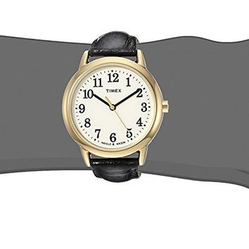 Timex Women's Easy Reader Leather Strap Watch