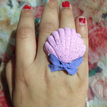 Pastel Mermaid rings by LoveDarkParadise on Etsy