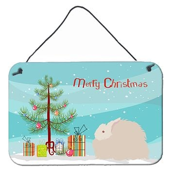 Fluffy Angora Rabbit Christmas Wall or Door Hanging Prints BB9326DS812