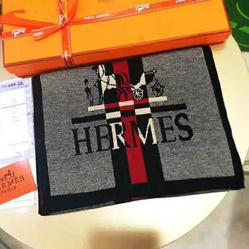 Hermes New Fashion Men Women Cashmere Cape Scarf Shawl Scarves Accessories