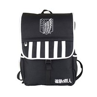 Anime Attack on Titan Recon Corps Logo Canvas Schoolbag Large Capacity Shoulders Backpack