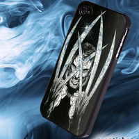black, white, Wolverine, art, design- available for iPhone and Samsung Galaxy, cover,Case,Accessories,Phone,CellPhone -io- 21-1-18
