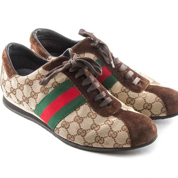 Authentic Gucci Mens GG logo Guccissima 117711 shoes