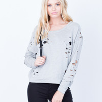 Holey Sweater Top