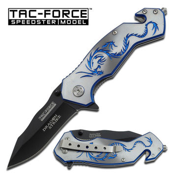 Blue Dragon Tactical Rescue Assisted Folding Knife