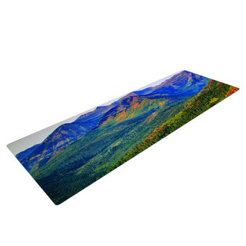 Fall Foliage Forest Mountain Yoga Mat