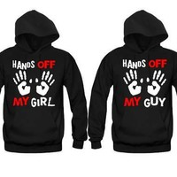 Hands Off My Girl - Hands Off My Guy Unisex Couple Matching Hoodies