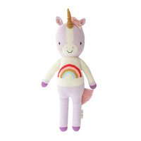 Zoe the unicorn helps feed children in need. 1 doll = 10 meals.