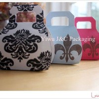 pcs Handbag Wedding Favor Boxes Floral