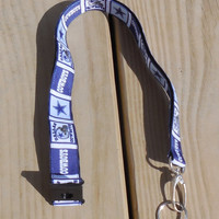 Ribbon Lanyard, Dallas Cowboys Safety Breakaway Lanyard, Sports Ribbon, ID Badge,Cell Phone, Key Holder, Ribbon