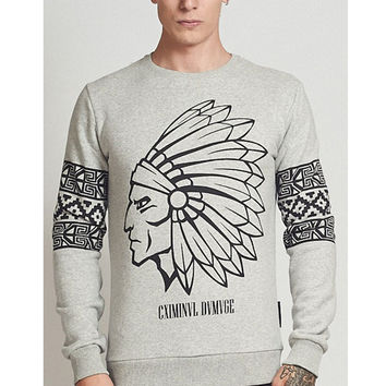 Criminal Damage - Tomahawk Sweater - Grey
