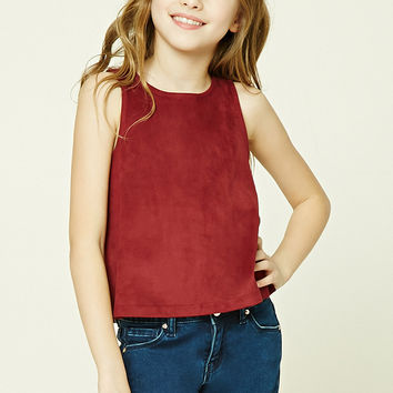 Girls Faux Suede Top (Kids)