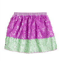 Girls' colorblock paillette skirt - patterns - Girl's skirts - J.Crew