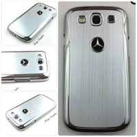 Mercedes Samsung Galaxy S3 Case Mercedes Benz Sport Car Premium Hard Cover for S3 / i9300 - Silver