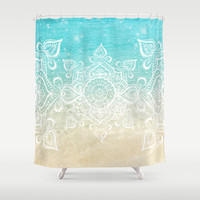 Beach Mandala Shower Curtain by Jenndalyn