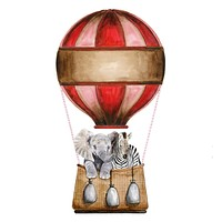 Red Hot Air Balloon Painting