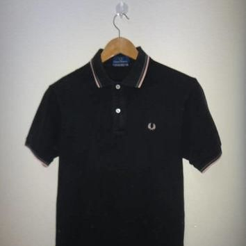 On Sale 25% Off Rare FRED PERRY Ringer Polo Shirt