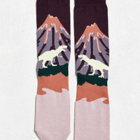 Volcano Scene Sock | Urban Outfitters