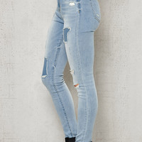 PacSun Bear Blue Ripped High Rise Jeggings at PacSun.com