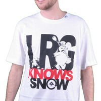 LRG Knows Snow Tee Shirt in White Guys T-Shirts