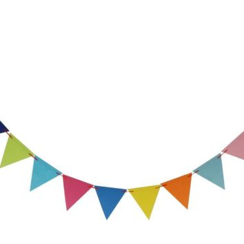 Cheerful Triangle Party Bunting Banner