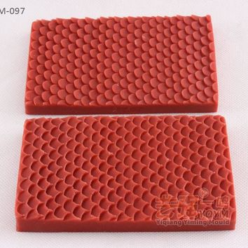 2pcs/set Lace Mermaid Fish Scale Fondant Embosser Texture Cake silicone Clamping Molds Cupcake Mould Baking Tools Chocolate E941