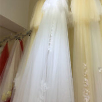 3.6M Long White/Ivory Wedding Bridal Veil Single Layer with Comb
