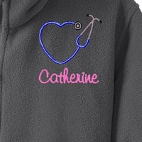 Nursing Student Custom Monogrammed Fleece Jacket. RN, LPN, LVN, Christmas or Birthday Gift. Personalized Winter Jackets. Co-worker Gift