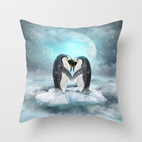 Listen Hard (Penguin Dreams) Throw Pillow by Soaring Anchor Designs ⚓