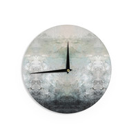 "Pia Schneider ""Abstract No.1"" Gray White Wall Clock"