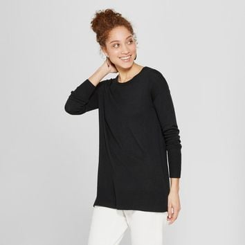 Women's Crew Neck Luxe Pullover Sweater - A New Day™