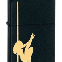 Hot SEXY Zippo Pole Girl Dancer w/ Black Matte Cigarette Lighter