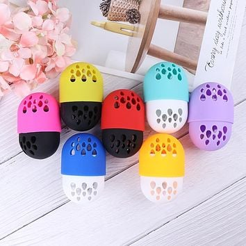 Makeup Sponge Display Rack Cosmetic Blender Sponge Case Puff Holder Soft Silicone Powder Puff Drying Holder Egg Stand Beauty Pad
