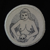 Girl With Skull Russian Criminal Tattoo Patch