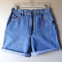 90s LEE High Waist Jean Shorts - Size 12 Long