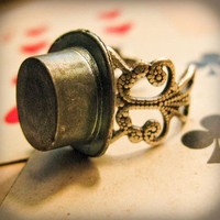 Mad Hatter Vintage Gamepiece Ring by Brehan Todd by brehanclaire