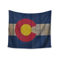 "Bruce Stanfield ""Flag of Colorado"" Blue Red Wall Tapestry"