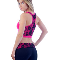 Laced Back Sports Bra