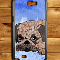Painting Pug Samsung Galaxy Note 2 Case