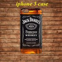 iphone 5 case,iphone 5 hard case,iphone 5 cover---Jack Daniels, Cool, old no 7, Tennessee,in plastic