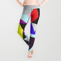 geometric pattern Leggings by Haroulita