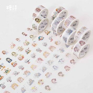 2cm*8m Cute Girl Lifestyle washi tape DIY decoration scrapbooking planner masking tape adhesive tape label sticker stationery 08
