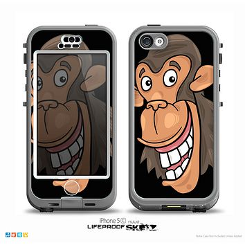 The Black Laughing Vector Chimp Skin for the iPhone 5c nüüd LifeProof Case