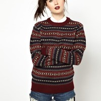 Pop Boutique | Pop Boutique Fairisle Knitted Jumper at ASOS
