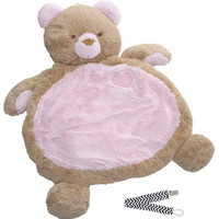 Mary Meyer 01410 Pink Bear Bestever Baby Mat with Pacifier Clip