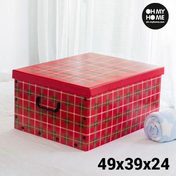 Oh My Home Pictures Cardboard Storage Box with Lid and Handles